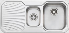 Oliveri-1-12-Bowl-Inset-Right-Hand-Sink-with-Drainer on sale