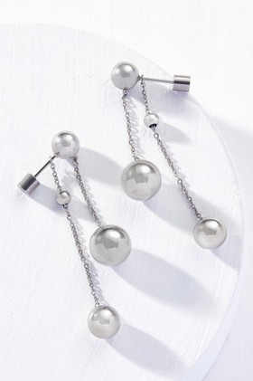 Fairfax-Roberts-Contemporary-Double-Drop-Ball-Earrings on sale