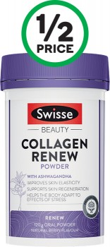 Swisse-Beauty-Collagen-Renew-Powder-Natural-Berry-120g on sale