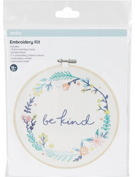 Embroidery-Kit-Floral-Wreath on sale