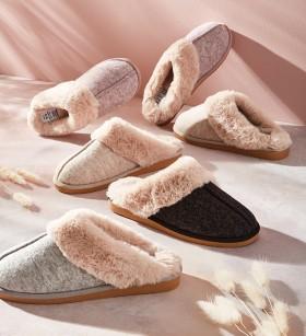 Fur-Scuff-Slippers on sale