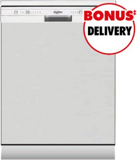 Dishlex-60cm-Freestanding-Dishwasher-Steel on sale