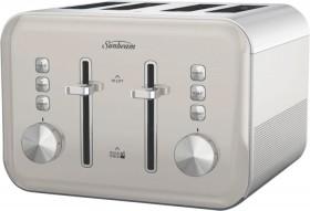 NEW-Sunbeam-Simply-Shine-4-Slice-Toaster-Cream on sale