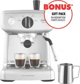 Sunbeam-Mini-Barista-Espresso-Machine-Silver on sale