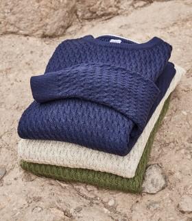 Mens-Textured-Knit-Jumper on sale