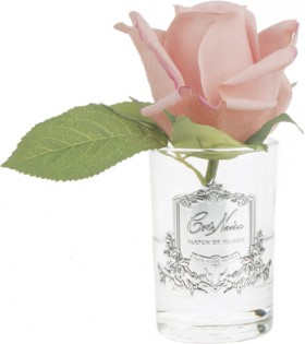 Cte-Noire-Rose-Buds-13.5cm-White-PeachClear-Glass on sale