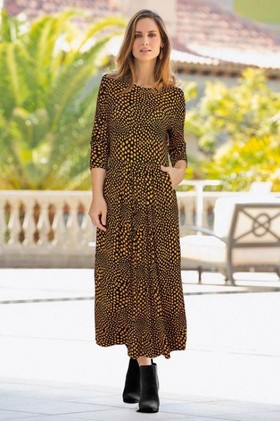 European-Collection-Pocket-Spot-Dress on sale