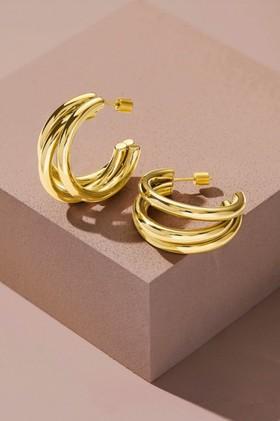 Fairfax-Roberts-Contemporary-Triple-Hoop-Earrings on sale