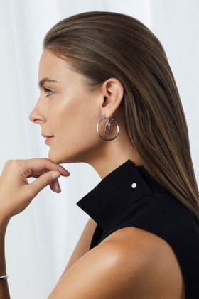 Fairfax-Roberts-Contemporary-Abstract-Hoop-Earrings on sale