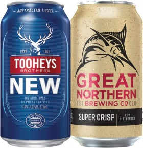 Tooheys-New-or-Great-Northern-Super-Crisp-Lager-30-Can-Block on sale