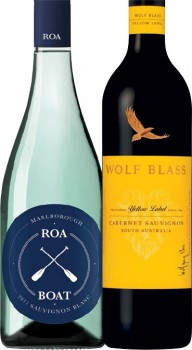 Roa-Boat-Sauvignon-Blanc-or-Wolf-Blass-Yellow-Label-750mL-Varieties on sale