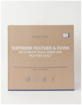 Heritage-8515-White-Duck-Down-and-Feather-Quilt on sale
