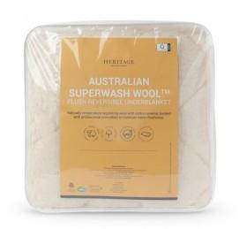 Heritage-Australian-Wool-Reversible-Plush-Underblanket on sale