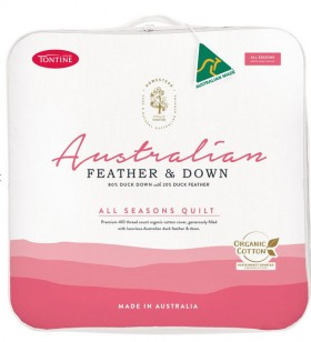 Tontine-Homestead-Australian-8020-White-Duck-Down-and-Feather-All-Seasons-Quilt on sale