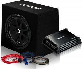 Kicker-12-Subwoofer-in-Custom-Ported-Enclosure-300W-Amp-250W on sale