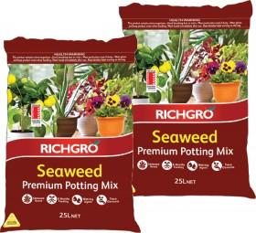 Richgro-Premium-Potting-Mix-with-Seaweed-25L on sale