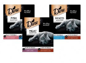 Dine-14-Pack-Cat-Food-Tin-Varieties-85g on sale