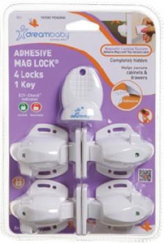 Dreambaby-Adhesive-Mag-Lock-4-Locks-1-Key on sale
