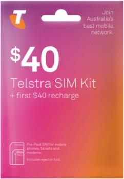 Telstra-40-Pre-Paid-SIM-Kit on sale