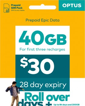 Optus-30-Sim-Pack on sale