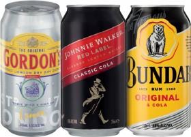Gordons-Gin-Tonic-4.5-Johnnie-Walker-Red-Cola-4.6-or-Bundaberg-U.P.-Rum-4.6-Varieties-10-Pack on sale