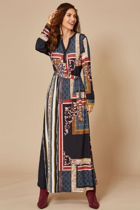 Kaleidoscope-Scarf-Print-Dress on sale