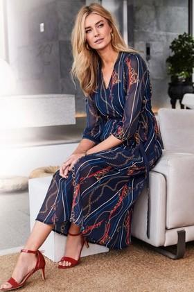 Kaleidoscope-Chain-Print-Maxi-Dress on sale