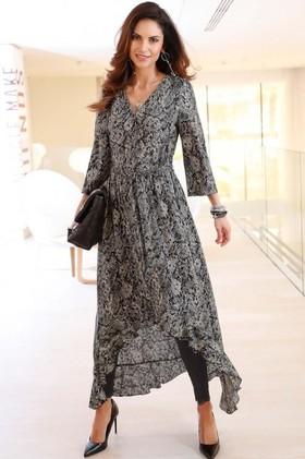 Euro-Edit-Printed-Long-Sleeve-Dress on sale