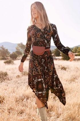Urban-Hankerchief-Hem-Print-Dress on sale