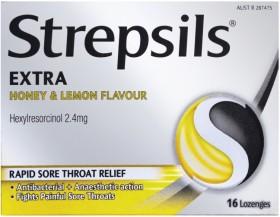 Strepsils-Extra-Honey-Lemon-16-Lozenges on sale