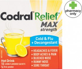 Codral-Relief-Max-Strength-Cold-Flu-Decongestant-10-Sachets on sale