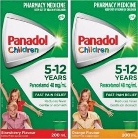 Panadol-Children-5-12-Years-Orange-or-Strawberry-200mL on sale