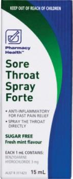 Pharmacy-Health-Sore-Throat-Spray-Forte-15mL on sale