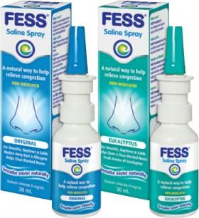 FESS-Saline-Nasal-Spray-Original-30mL-or-FESS-Saline-Nasal-Spray-Eucalyptus-30mL on sale