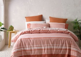 Vue-Grayson-Cotton-Quilt-Cover-Set-in-Pink-Clay on sale