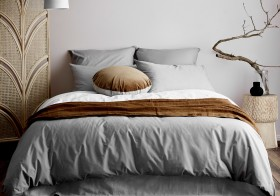 Aura-Home-Halo-Organic-Cotton-Quilt-Cover-in-Pebble on sale