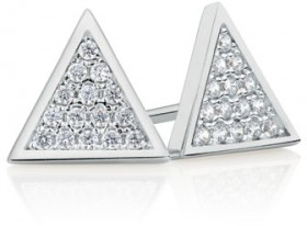 Stud-Earrings-with-Cubic-Zirconia-in-Sterling-Silver on sale