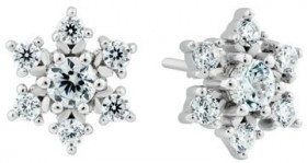 Cubic-Zirconia-Snowflake-Studs-in-Sterling-Silver on sale