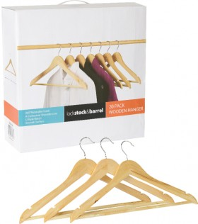 Wooden-Hangers-20-Pack on sale