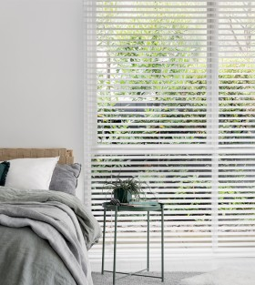 50-off-50mm-White-Ready-To-Hang-Timber-Venetian-Blinds on sale