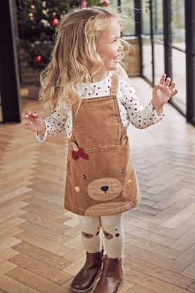 Next-Camel-Bear-Pinafore-Top-And-Tights-Set-3mths-7yrs on sale
