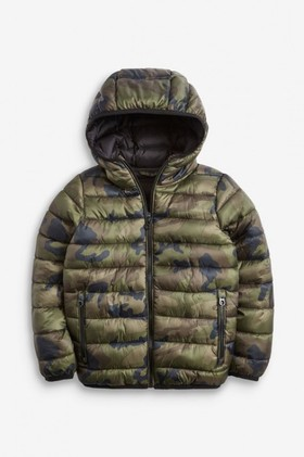 Next-Camouflage-Shower-Resistant-Padded-Jacket-5-16yrs on sale