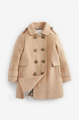Next-Camel-Military-Wool-Coat-5-16yrs on sale