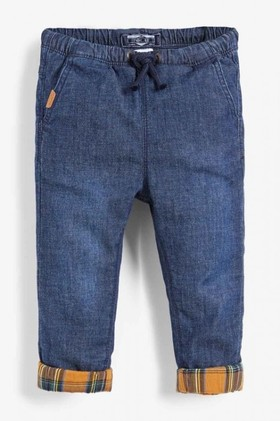 Next-Dark-Blue-Pull-On-Lined-Jeans-3mths-7yrs on sale