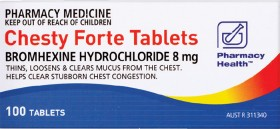 Pharmacy-Health-Chesty-Forte-100-Tablets on sale