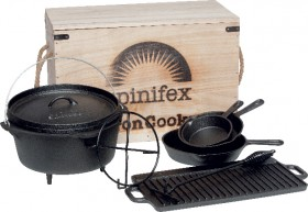 Spinifex-Cast-Iron-Wood-Crate-Cook-Set on sale
