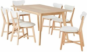 Java-7-Piece-Dining-Set-with-Elke-Chairs on sale