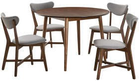 Tara-5-Piece-Dining-Set-with-Elke-Chairs on sale
