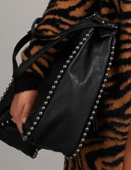 Milleni-Fashion-Tote-with-Ball-Detail on sale