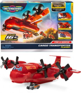 NEW-Micro-Machines-Fire-and-Rescue-Cargo-Carrier on sale